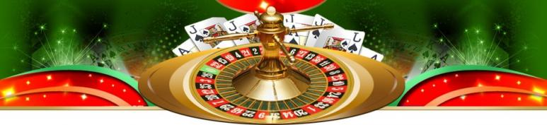 roulette wheel and playing cards